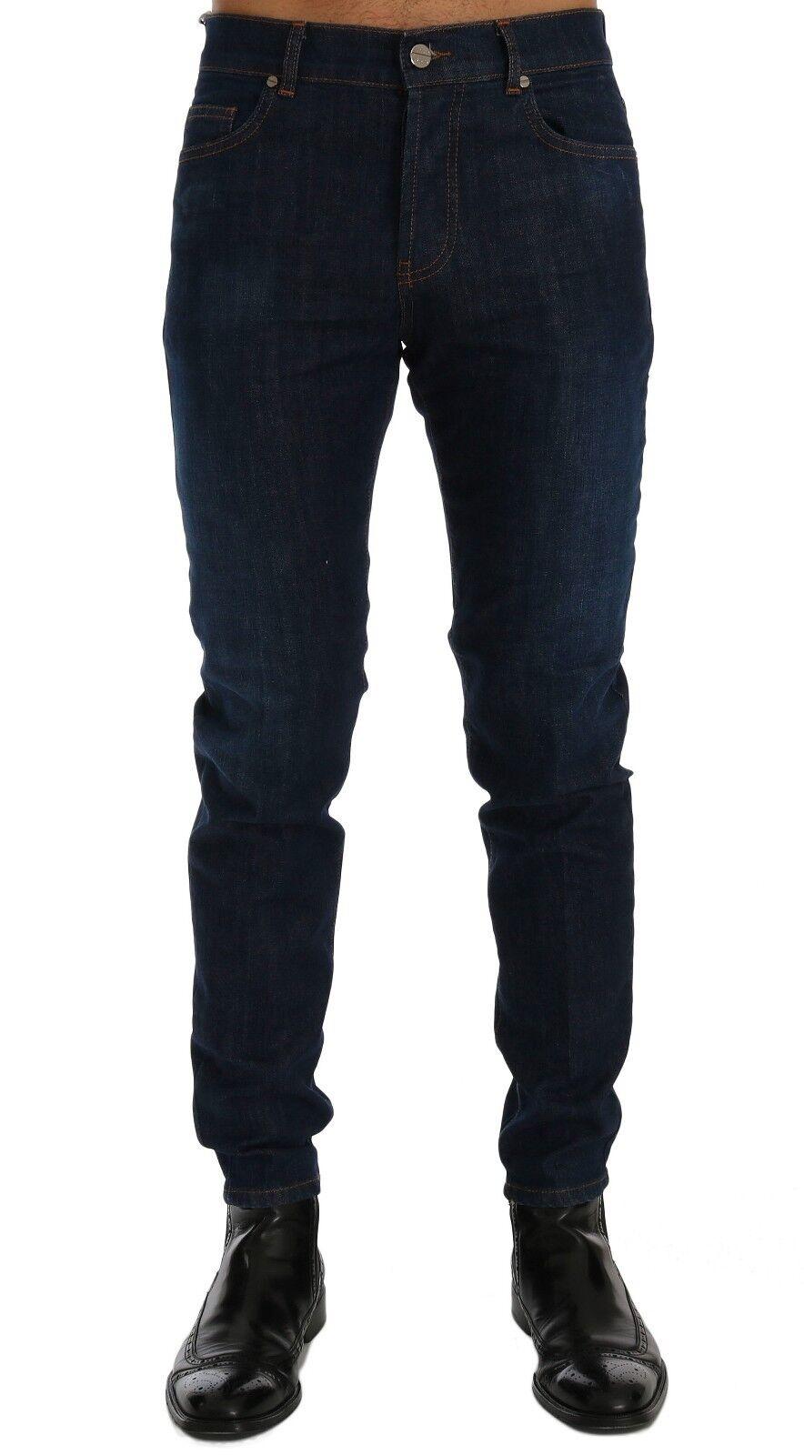 NEW FRANKIE MORELLO Jeans bluee Wash Aberdeen Slim Fit Denim Stretch s. W38
