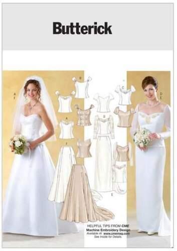 fetichistas talla 32-48 Patrones de corte Butterick 4131 genial wandelbares vestido de novia