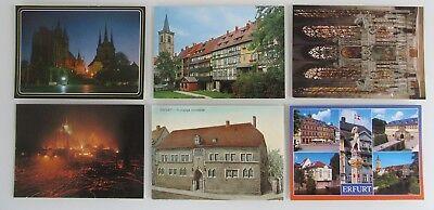 6x Erfurt Thüringen Postkarten Lot Farbige Ansichtskarten Ungelaufen Ungebraucht