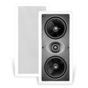 """NEW CT SOUNDS BIO 5.25"""" LCR WEATHERPROOF IN-WALL SURROUND SOUND SPEAKERS"""