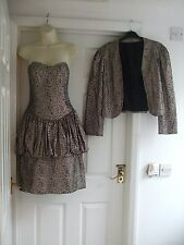 vintage dress + jacket fit size 10 Womens Winter Cocktail Party Ladies Occasion