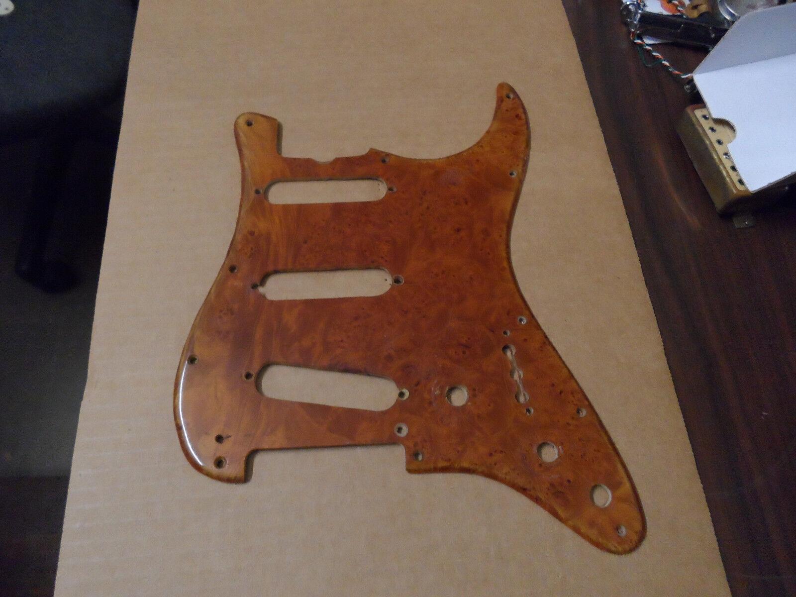 Vintage Fender Stratocaster Burl Maple Wood Pickguard