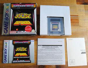 Jeu-ARCADE-HITS-JOUST-DEFENDER-boite-d-039-origine-pour-Nintendo-Game-Boy-Color