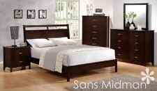 NEW! Kingston Collection Espresso Queen Size Bed 5 pc Set Bedroom Furniture 2 NS