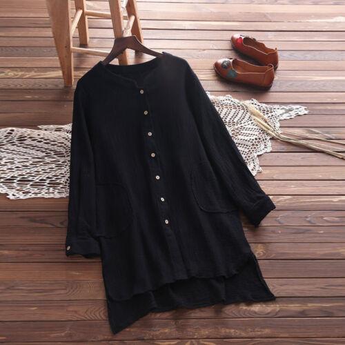 Femmes Été Décontracté Manches Longues en Vrac Bouffant Tunique Haut T Shirt