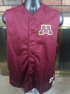 new product 9e8a5 8fc6a Details about University of Minnesota Golden Gophers NCAA Baseball Jersey  Mens Medium Vest #5