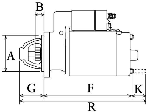 0001110056 0001110017 0001109026 Démarreur Neuf remplace Bosch 0001109010