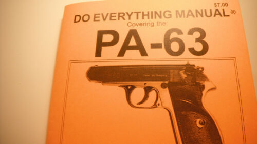 PA-63 PISTOL INSTRUCTION MANUAL by M/&M Engineering