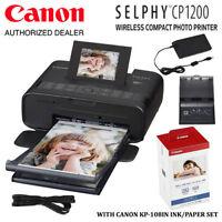 Canon Selphy Cp1200 Wireless Compact Photo Printer & 108 Sheets Print Kit Bundle