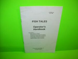 Fish-Tales-Pinball-Machine-Mini-Handbook-Williams-Original-1992-Game-Booklet