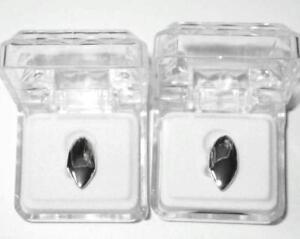 Hip Hop Silver Mouth Teeth Grills Grillz Single Fangs - 2 pc Set