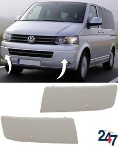 Nuevo-VW-Transporter-Multivan-09-15-parachoques-delantero-conjunto-par-de-agujero-de-moldeo-con-PDC