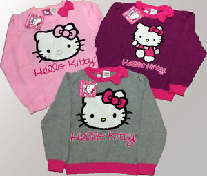 60e2c061bb9 Image is loading Hello-Kitty-Long-Sleeve-Sweater-Jumper-Pullover-Cotton-