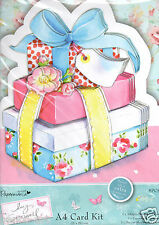 Docrafts Papermania Lucy Cromwell A4 Card Kit Girl Presents Pink Happy Birthday