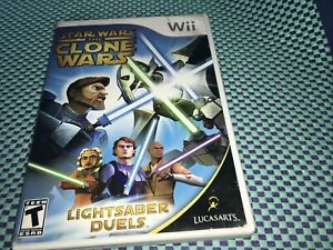 Star Wars The Clone Wars Lightsaber Duels Nintendo Wii Complete Free Ship