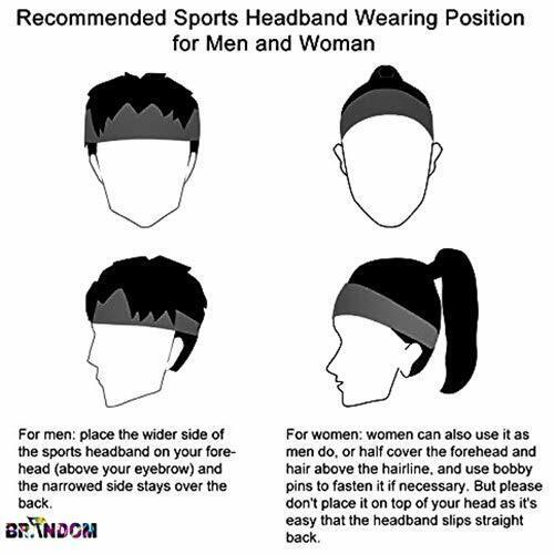 US Men Women for Yoga Gym Bike Stretch Hair Head Band Sports Headband Sweat Band