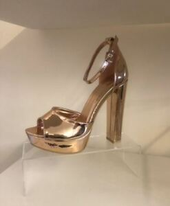 Boutique-Barely-There-Platform-Block-High-Heel-Sandals-Shoes-Brand-New-RK11