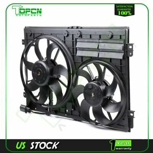For 2006-2014 Volkswagen Passat Dual Radiator and Condenser Fan