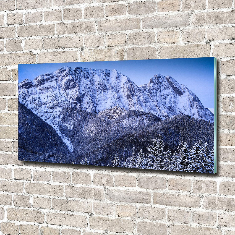 Cuadros de pa rojo  de pantalla de cristal impresión x en cristal 140 x impresión 70 decorativos paisajes Giewont Tatra 88997f