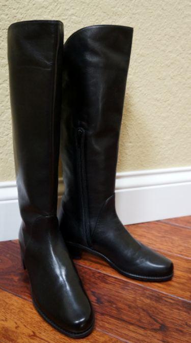 8ad35d50010 Weitzman Stuart Arlington NWB 800 Boots GORGEOUS 5.5M Leather Black ...