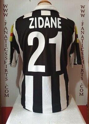 No 21 zidane juventus turin 2000-2001 lotto jersey soccer ...