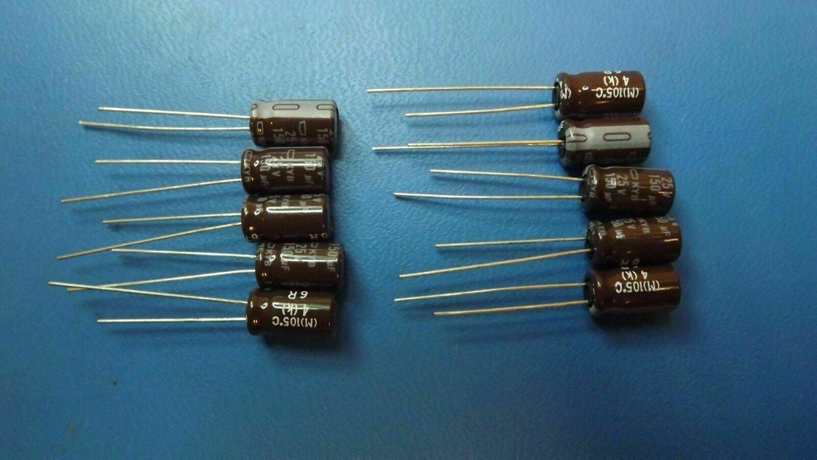 100UF 25V KME25VB100M  NIPPON CAPS 6.3 X 11 20/% 105C RADIAL  25PCS