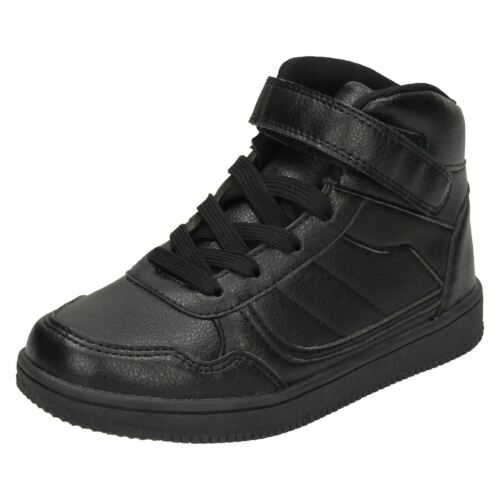 BOYS GIRLS KIDS SPOT ON LACE UP HI TOP TRAINERS SHOES BOOTS H4127