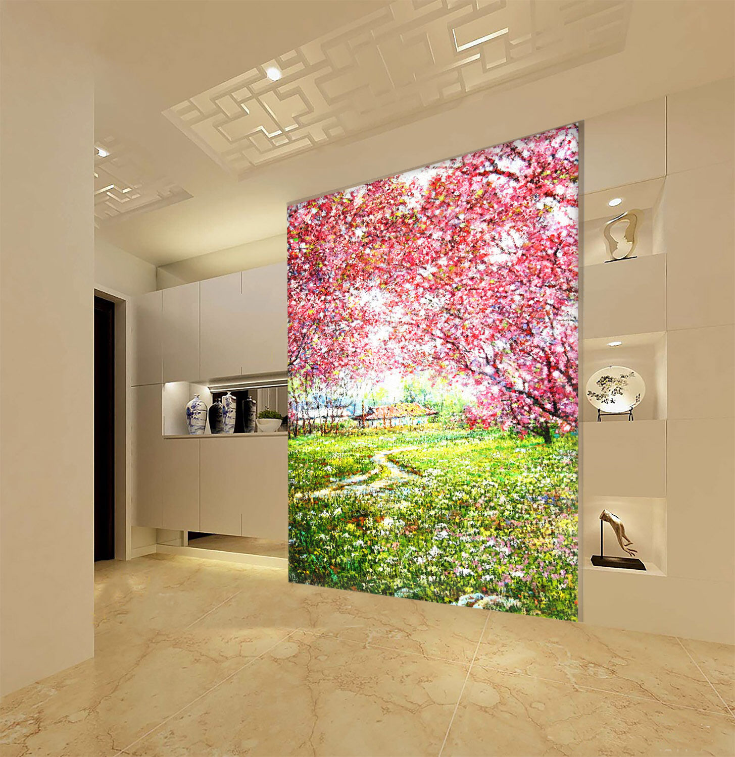 3D Prosperous Flowers 4 Wall Paper Wall Print Decal Wall Deco Wall Indoor Murals