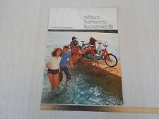 BROCHURE DEPLIANT ORIGINALE PIAGGIO 1977 CIAO BRAVO BOXER 2