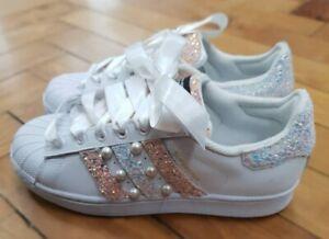 adidas superstar glitter shoes