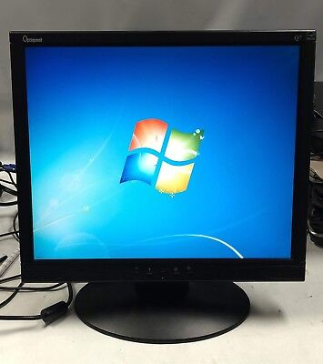 viewsonic optiquest qb   lcd monitor  built  speakers  ebay