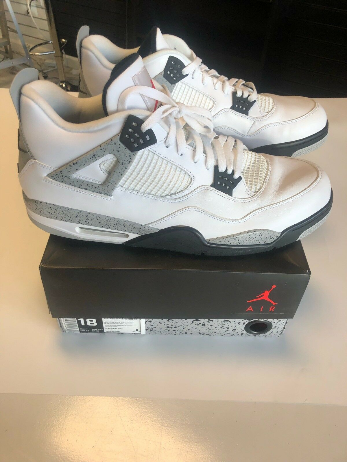 the best attitude 76fb2 55929 Nike Air Jordan Retro 4s IV White Cement Cement Cement 2016 840606-192 DS  Size