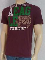 American Eagle Outfitters Aeo Varsity Department Mens Burgundy T-shirt
