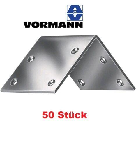 Breitwinkel 40x40x2 mm Stahl blau verzinkt 50 Stück Vormann Holzwinkel