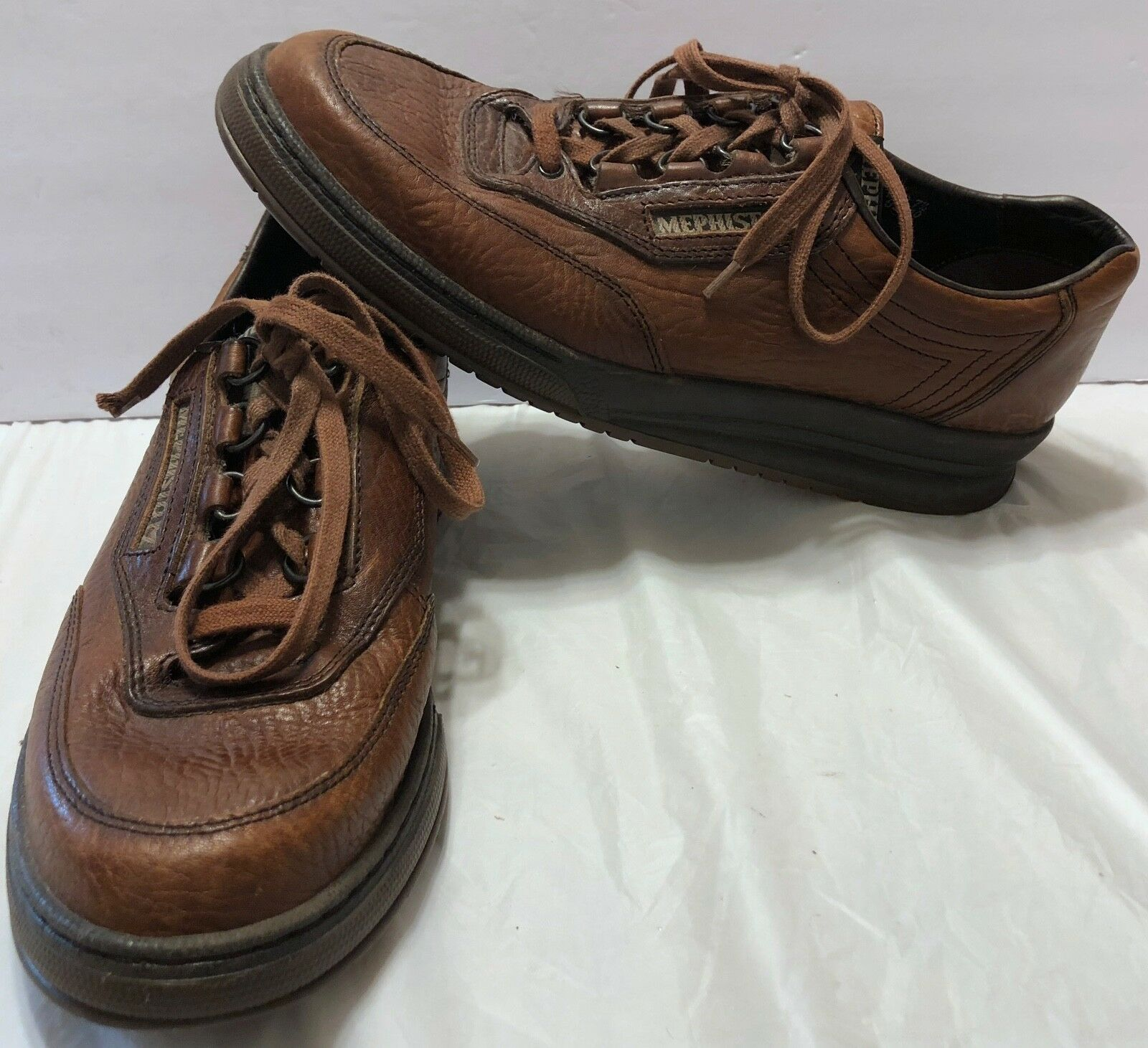 Mephisto Runoff Sport Oxford Shoes Size 10   Brown Pebbled Pelle