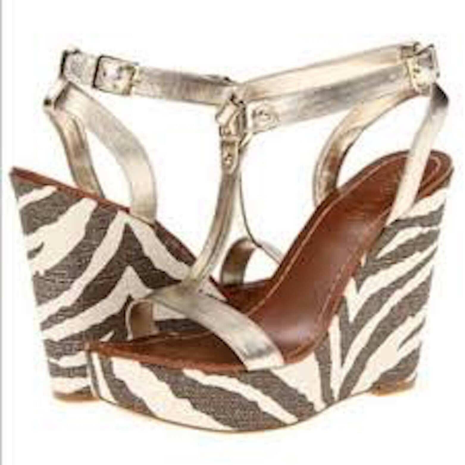 NEW Ralph Lauren Disha Disha Disha Zebra Wedge 8 a83c8b
