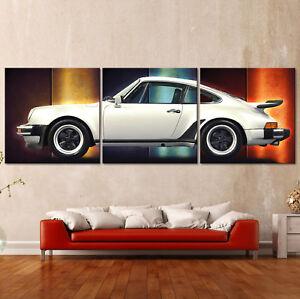 POP-ART-PORSCHE-911-CARRERA-TURBO-Leinwand-Bild-Kunstdruck-Malereistil-Bilder