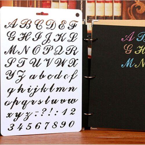 Alphabet Letter Stencil Thin Plastic Number Paint Art Craft Gift Furniture Decor