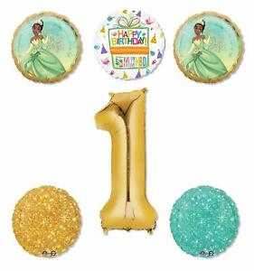 Princess-Tiana-Party-Supplies-1st-Birthday-Balloon-Bouquet-Decorations