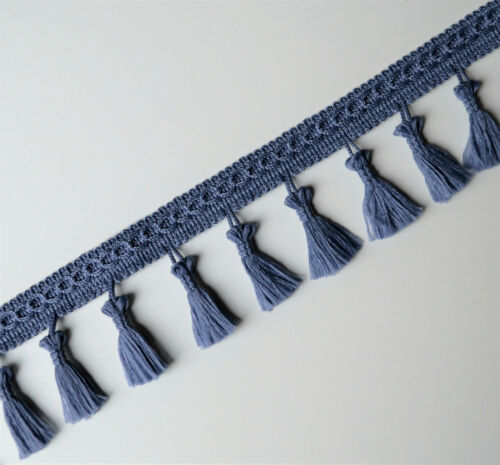 Tassel fringe edging trim curtains cushions sewing 55 mm wide //32 mm tassel drop