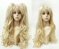 Blonde Wig W/ Removable Ponytails Lolita Cosplay Harajuku Princess Long Wavy 30