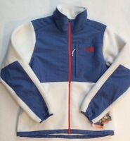 The North Face Women's Denali Jacket In Medium Tnf White & Vintage Blue