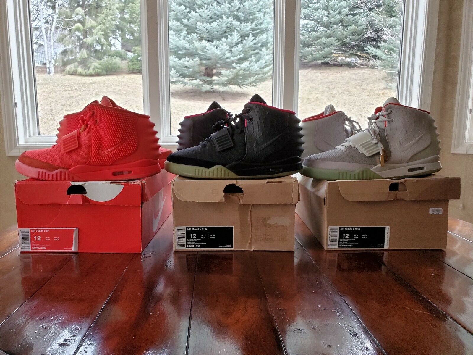 Nike Air Yeezy 2 Solar, Solar, Solar, Red October, Plats Size 12 Lot Used 100% AUTHENTIC 3f5c5b