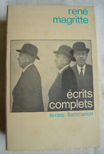 Rene-Magritte-Ecrits-complets-Edition-Flammarion-Andre-Blavier-Annee-1979