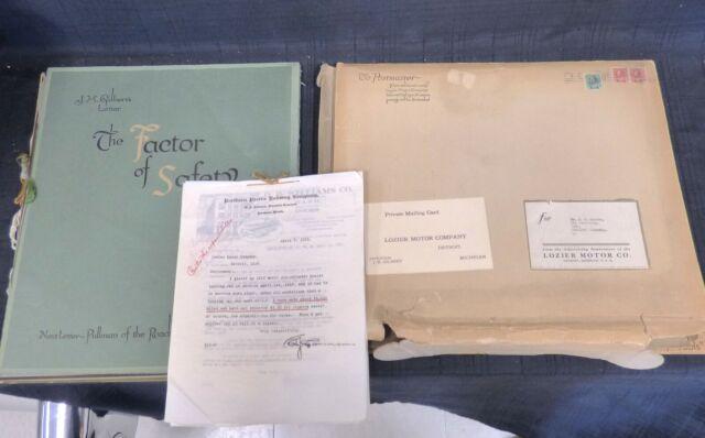 1914 LOZIER Boxed Portfolio Testimonial Car Sales Presentation Package N/R