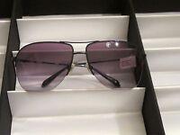 Sama Sunglasses, Preston Sun, Denim, Size 64, $477