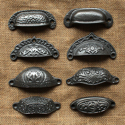 Antique Cast Iron Cabinet Cup Pull, Antique Style Kitchen Cabinet Door Handles