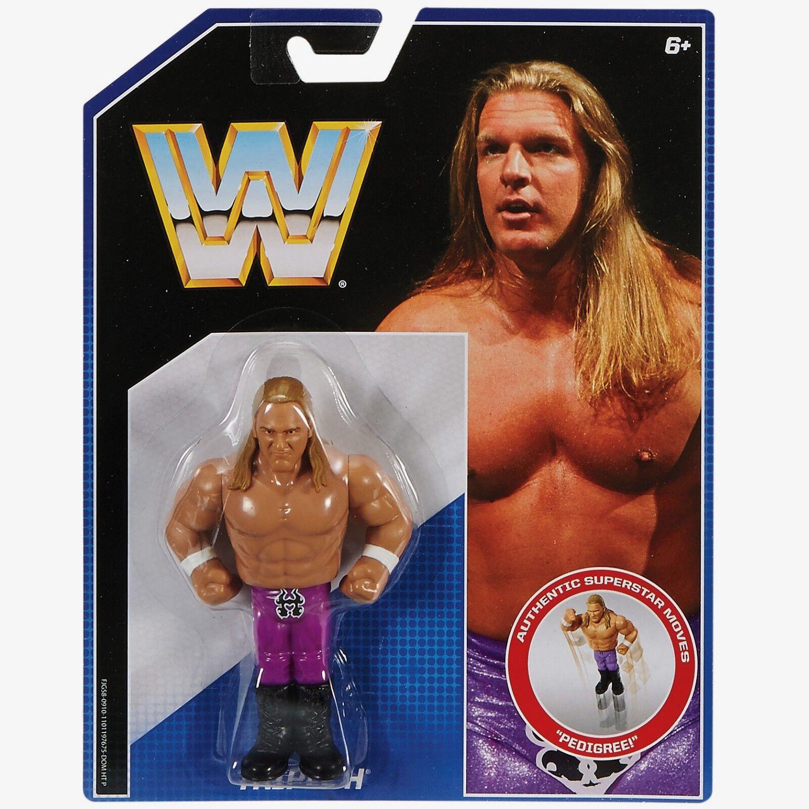 WWE Retro Series 2  TRIPLE H - wwf hasbro wrestling figure hulk warrior macho