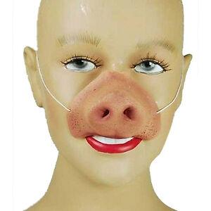 NEW-FARM-ANIMAL-ELASTIC-PIG-NOSE-SNOUT-Fancy-Dress-Costume-Accessory