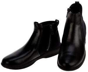 NEW PRADA LADIES nero Pelle ANKLE TESSUTO COMFY ZIP ANKLE Pelle stivali scarpe ... 1e9693